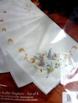 Bucilla Easter Cross Buffet Napkins Set Of 8 Stamped CROSS-STITCH #83757 - $17.59