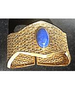 HandForged~POSH CLASSIC ITALIA~VTG 18K Y.GOLD BANGLE BRACELET Lapis Lazu... - $3,900.00