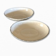 "Set Of 2 Lenox Weatherly Oval Serving Dish 8 1/4"" x 5 1/4"" - Platinum Rim - $39.59"