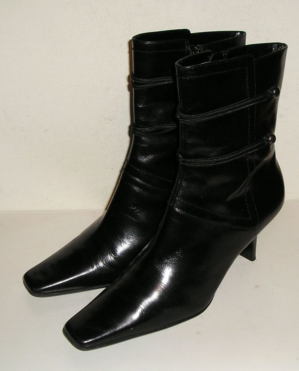 Nine west nwsyd women s black leather fashion ankle boots 7 m   1