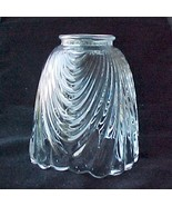 Draped Clear Glass Bell 2 1/4 in Light Shade Ce... - $8.95