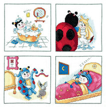 Set cross stitch Lanarte 15609 Storybook bedtime.Razmer 36/36 cm. - $17.00