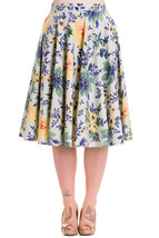 Hell Bunny Hope Floral Print Retro 1950s Circle... - $54.00