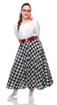 Black & White Check Full Circle Skirt w Crinoli... - $36.00