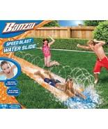 Banzai Speed Blast Water Slide Inflatable Super Slick Speed 16L X 28W X ... - $14.84