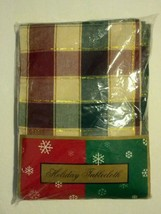 CHRISTMAS Holiday Tablecloth 60 x 84 Oblong Table Cotton Multi-colored C... - $29.69