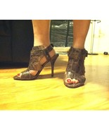 Zara Gladiator Sandals Snakeskin US 9.5 -  EUR 41 - $69.29