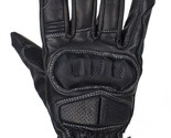 MEN'S MOTORCYCLE GLOVES WITH GEL PALM W/HARD CARBON KNUCKLES ,FULL FINGER RIDING