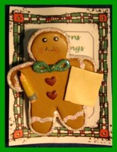 Christmas PIN #0110 School Time Gingerbread Man with Pencil & Paper - $9.85
