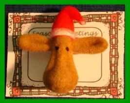 Christmas PIN #0112 Moose Tac Pin (Fuzzy) Unique/cute - $8.86