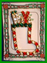 Christmas PIN #0121 Stocking with Presents Sparkling Rhinestone HOLIDAY ... - $12.82