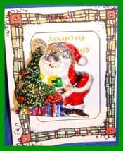 Christmas PIN #0298 Santa Silvertone & Enamel Plastic Tac Pin HOLIDAY Br... - $9.85