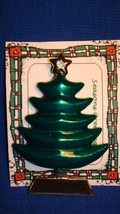 Christmas PIN #0441 Home Interiors Green Tree Pin ~Goldtone & Faceted St... - $59.35
