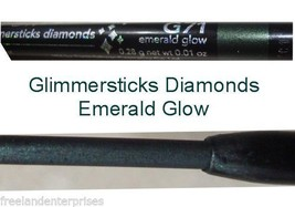 Make Up Glimmerstick Eye Liner Retractable Diamonds ~Color Emerald Glow ... - $6.88