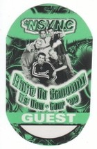 'N SYNC n sync backstage Satin Cloth PASS tour collectible GUEST - $11.87