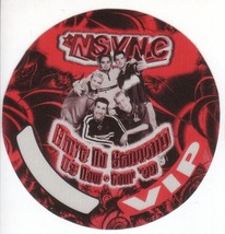 'N SYNC n sync  backstage pass Tour Satin cloth collectible VIP - $11.38