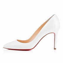 women thin high heel 85 cm shoes pumps basic pu rubber