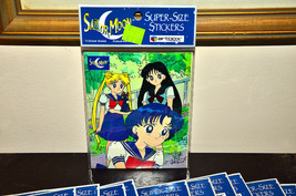 Sailor Moon sticker sheet Super Size stickers 1998 Artbox American vintage - $2.47