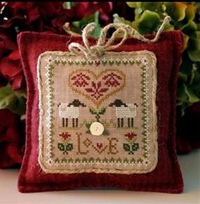 Love Sheep Virtues 2013 Series #2 cross stitch chart Little House Needleworks