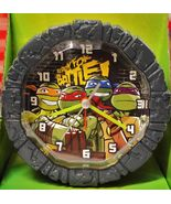 ALARM CLOCK Nickelodeon Teenage Mutant Ninja TURTLES, Custom Molded Case - $11.98