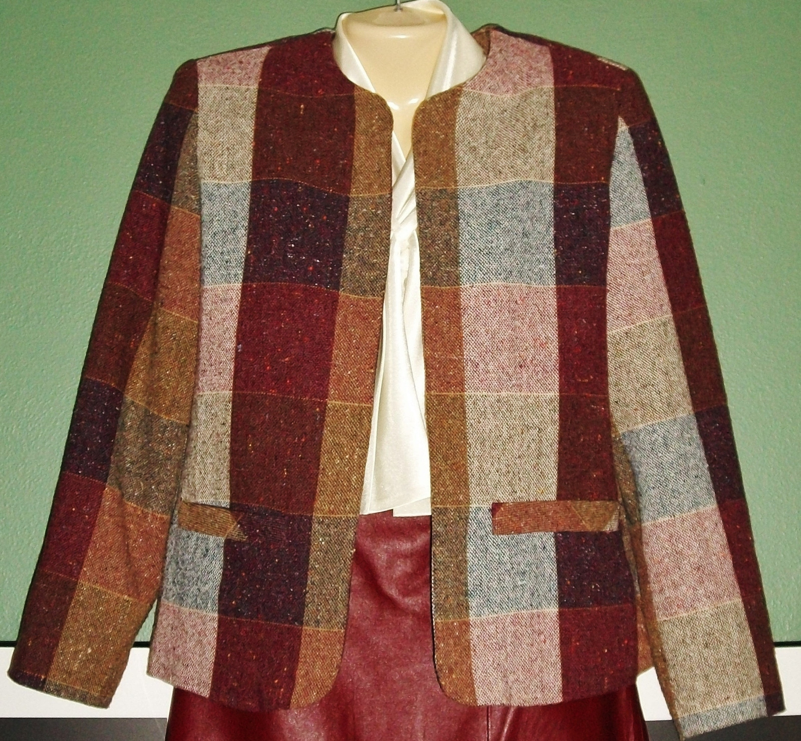 Primary image for Wide Plaid MULTI COLOR LINED Open Blazer