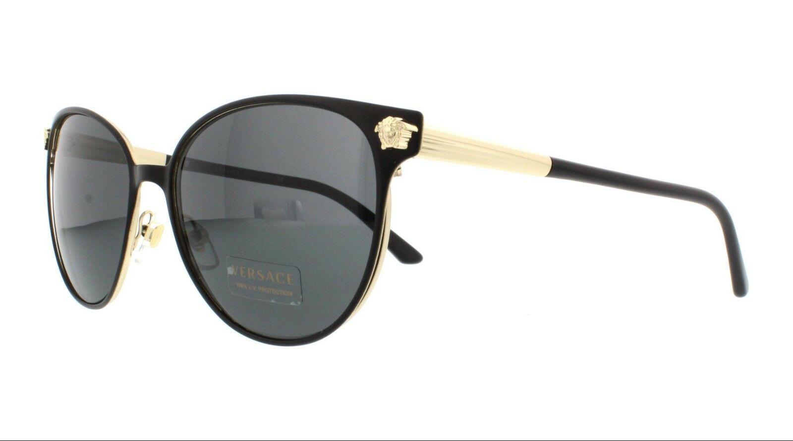 f351f017d2 Versace Women s Sunglasses VE2168 137787 Matte Black Grey Gradient Lens -   140.65