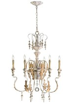 Horchow 6 Light Chandelier French Chateau Aidan Gray Wedding Look Cyan M... - £348.01 GBP