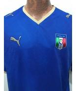 Italia Puma Mens XL Football Soccer Blue Mesh Short-Sleeve Jersey Shirt - $35.77