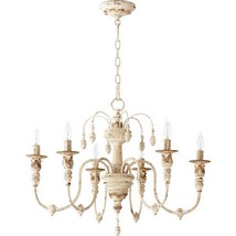 Shades of Light Look Gustavian Horchow Parisian Light Antique White Chan... - $345.51