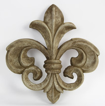 Fleur de Lis Concrete Wall Plaque Ornament  - $64.00