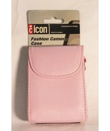 Icon leather fashion camera carrying case girly pink FMWRVY-PNK NEW - $7.91