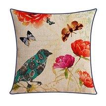 Kylin Express American Pastoral Thick Cotton Pillow Case Bird, E - $18.58