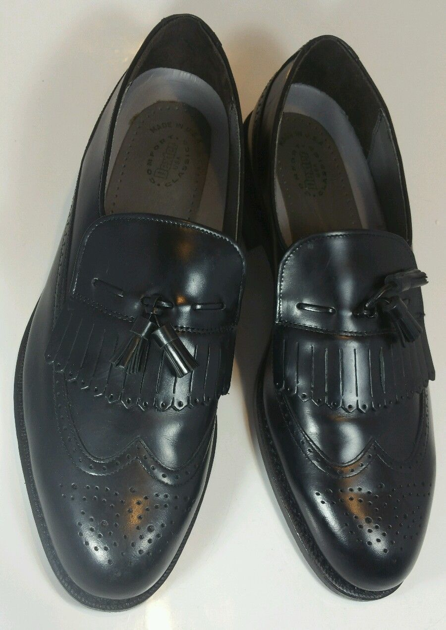 tassel dress loafer shoes made in usa black s