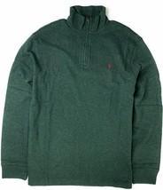 Polo Ralph Lauren Men's Half Zip French Rib Cotton Sweater GREEN M L 2X - $89.99