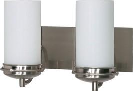 "Polaris Brushed Nickel Opal Glass Wall Light 13""Wx8""H - $2.806,75 MXN"