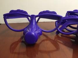 4 Purple Plastic Glasses for Fibber Board Game Additional Pieces Parts E... - $7.99