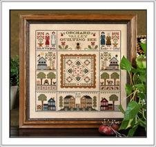 Orchard Valley Quilting Bee cross stitch chart Little House Needleworks - $14.40