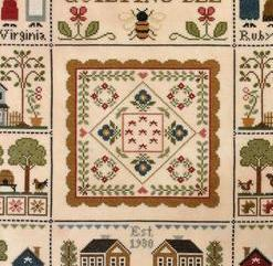 Orchard Valley Quilting Bee cross stitch chart Little House Needleworks