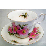 CHARMING MID 50s ROYAL ALBERT PRAIRIE ROSE TEA CUP SET - $38.99