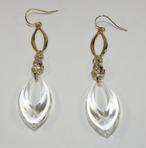 NEW AUTH ALEXIS BITTAR DECO BEETLE CLEAR LUCITE DROP DANGLE EARRINGS -GR... - $112.19