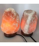"""2x Himalaya Natural Handcraft Rough Raw Crystal Salt Lamp, 7.75""""-8.25"""" T... - $25.60"""