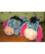 Kids Slippers-Disney-EEYORE-Winnie The Pooh Size Small 1-2 Age 3-9 Month... - $10.00
