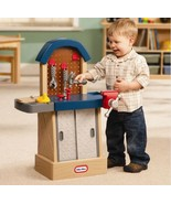 Kids Workbench Toy Workshop Play Tool Set Hammer Nail Saw Vice Wrench Bu... - $58.49