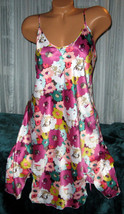 Mixed Floral Chemise Short Gown 1X 2X Plus Size Adjustable straps  - $12.50