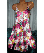 Mixed Floral Chemise Short Gown 1X Plus Size Adjustable straps  - $12.50