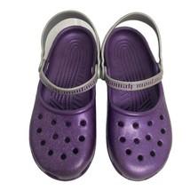 Crocs women's sandals slip on Mary Jane purple glitters size US 6 - $19.59