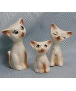Siamese Cat Vintage Salt Pepper Toothpick Set Figural Kitty Set - $19.72