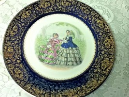 Vintage, Impertial, Salem China Co.,  11in Victorian Ladies Portrait Plate - $33.20