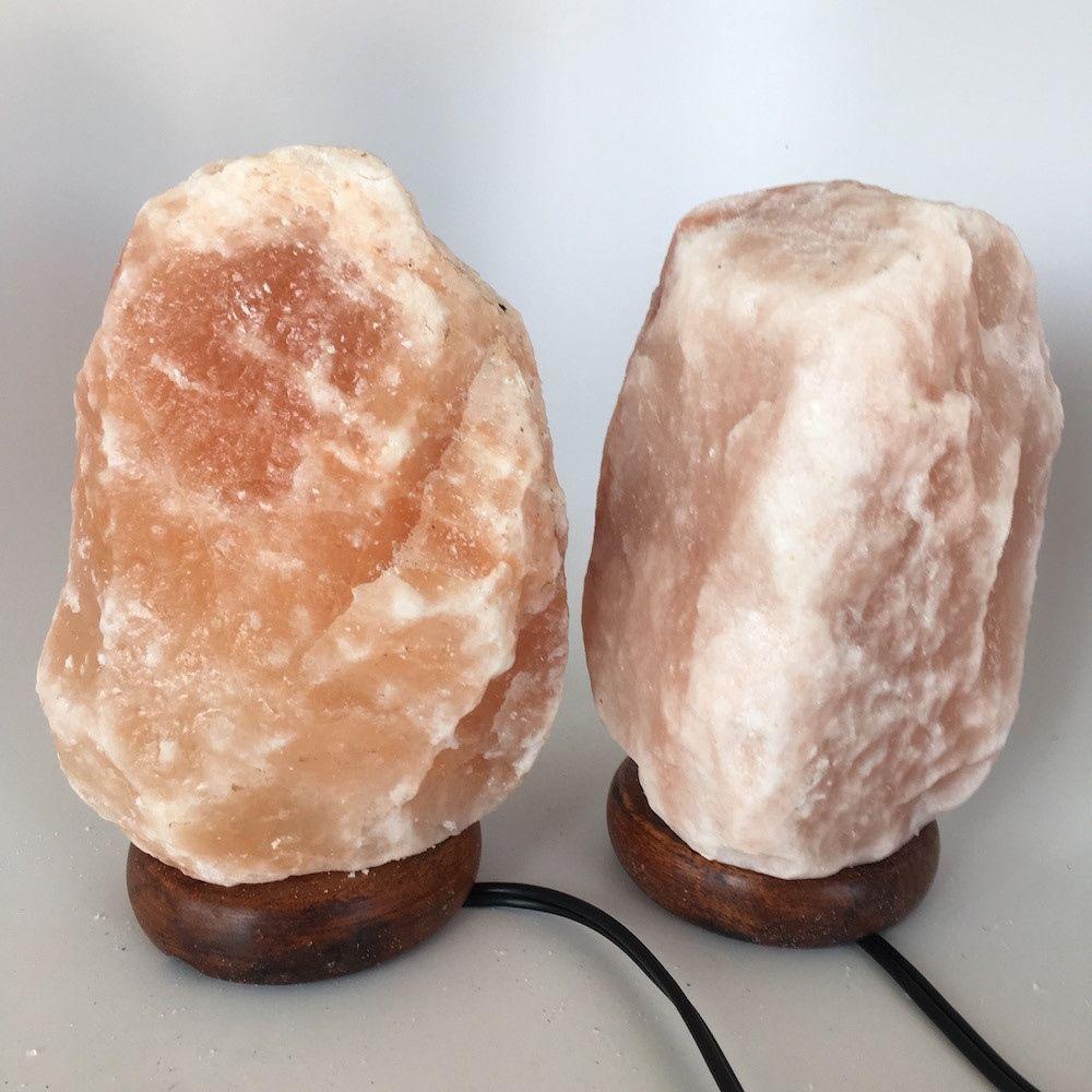 """2x Himalaya Natural Handcraft Rough Raw Crystal Salt Lamp, 7.75""""-8.25"""" Tall, HL1"""
