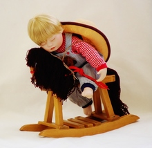 Ashton Drake Galleries Collectible Asleep in the Saddle Doll with Hobby ... - $19.95
